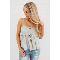 Lost In Love Tank (Sage)