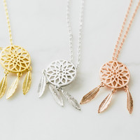 Dreamcatcher necklace-ZAA