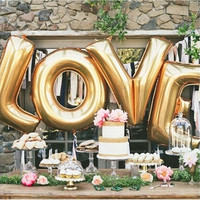 LOVE Helium Foil Ballons Letter Baloon Wedding Party Valentine's day Decoration Holiday Decorations