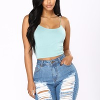 Kiki Cropped Top - Teal