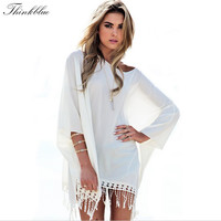 Beach Cover Up  with Hem Tassel