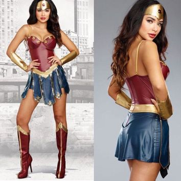 Batman v Superman: Dawn of Justice Wonder Women Costume Diana Prince Cosplay Fancy Dress Size S-2XL