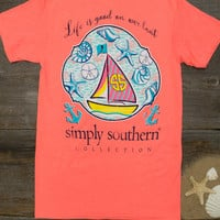 Life Is Good On Our Boat Tee   Simply Southern