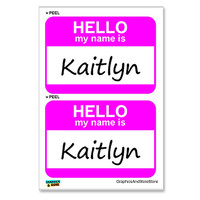 Kaitlyn Hello My Name Is - Sheet of 2 Stickers