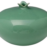 Clay Small Pomegranate Vases, Green, Other Lifestyle Accessories