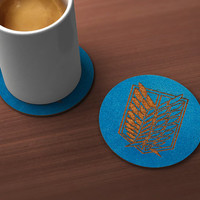 Attack on Titan Scout Geek Drink Coaster