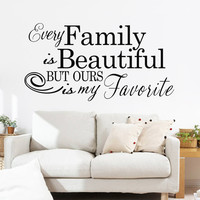 """Characters """"Family Beautiful"""" Wall Sticker Living Room Removable wall stickers home decor decoracion PVC Black 57*110CM SM6"""