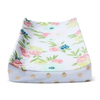 Plush Changing Pad Cover Floral - Cloud Island™ - Gold
