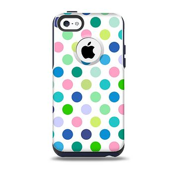 The Fun Colored Vector Polka Dots Skin for the iPhone 5c OtterBox Commuter Case