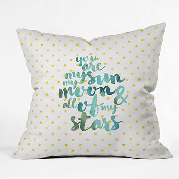 Hello Sayang You Are My Sun My Moon and All Of My Stars Outdoor Throw Pillow