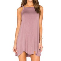 RVCA Theivery Dress in Pale Grape