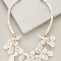 Lele Sadoughi Crystal Lily Bib Necklace in White Size: One Size Necklaces