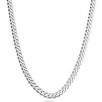 MiaBella Solid 925 Sterling Silver Italian 5mm Diamond Cut Cuban Link Curb Chain Necklace for Women Men, 16, 18, 20, 22, 24, 26, 30 Inch Made in Italy 16.0 Inches