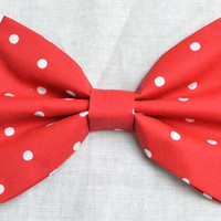 Red Dots Hair Bow