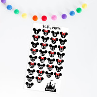 Vacation Countdown Stickers, Disney Countdown Stickers, Disney Vacation Countdown Stickers, Countdown Planner Stickers (#0169)