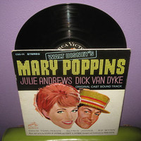 Vinyl Record Album Disney's Mary Poppins Original Soundtrack LP 1964 Julie Andrews Classic