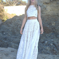 2PC Crochet Wedding Outfit