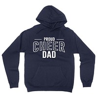 Proud cheer dad  team squad game day sport dad  love cheerleading Father's day hoodie