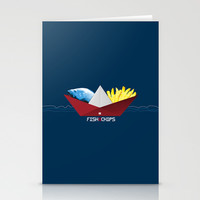 FishNChips Stationery Cards by Matt Irving