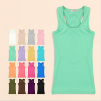 Summer Women Tank Top Sexy Solid Tanks Camisole Fitness Women's Tanks Vest Tops T Shirt