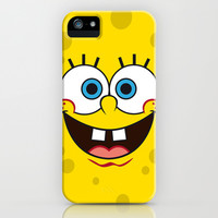 SpongeBob Face iPhone & iPod Case by julien tremeau