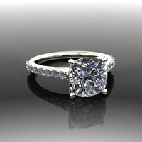 Forever Brilliant Moissanite and Diamond Engagement Ring 2.79 CTW