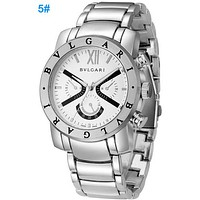 Bvlgari men and women fashion watch quartz watch F Silver