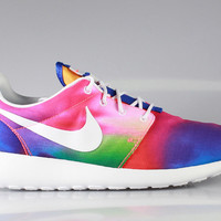Nike Men's Roshe Run Print Rainbow Tie Dye