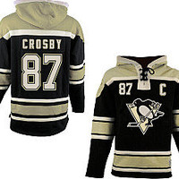 Old Time Hockey Pittsburgh Penguins Sidney Crosby Sawyer Hooded Sweatshirt