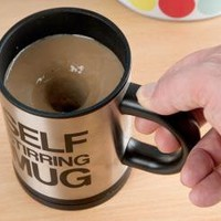 Stainless Steel Self Stirring MugBe careful with ur big nose by forevervintage on Zibbet