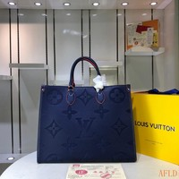 HCXX Spe 936 Louis Vuitton LV M445713 Leather Monogram Handle Tote Fashion Onthego Frame Shopper 41-34-19cm