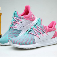 """Adidas"" Women Mint Green Pink Sneakers Running Sport Shoes"