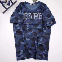 BAPE Women Fashion Print Camouflage Casual Blouse Dress G-A-XYCL