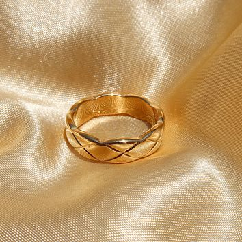 Quilted Band Ring