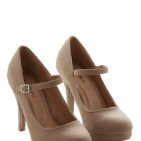 ModCloth Timeless of My Life Heel in Khaki