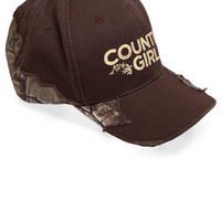 Women's Country Girl® Frayed Camo Hat