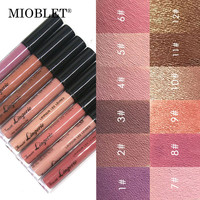 MIOBLET 1Pc Waterproof Liquid Matte Lipstick Lipgloss Cosmetics Lip Lipsticks Lip Gloss Durable Nude Metallic Glitter Lip Makeup