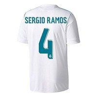 Real Madrid Home Sergio Ramos Jersey 2017 / 2018 (Official Printing)