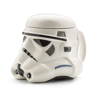 Star Wars Stormtrooper Helmet Design 3D Ceramic Mug with Removable Lid