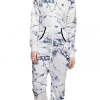 Marble Jumpsuit Bright White