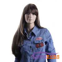 """26"""" long Straight with Bangs Synthetic Wigs for Women Basic Cap Colorful"""