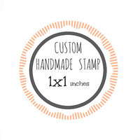 Custom Stamp - Custom Logo Stamp - Custom Rubber Stamp - Branding Stamp 1x1 inches