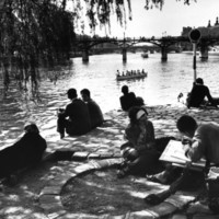 Parisians on the Banks of the Seine