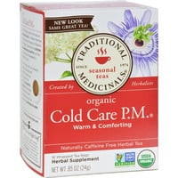 Traditional Medicinals Organic Cold Care P.m. Caffeine Free Herbal Tea - Case Of 6 - 16 Bags