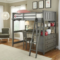 Boardwalk Twin Size Study Loft Bed