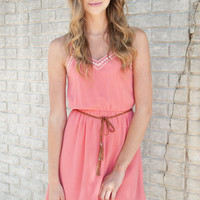 Lively in Love Dress in Coral - Shop Lizard Thicket
