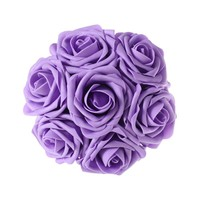 Lavender Purple Artificial Flowers 50pcs Real Looking Roses with Stems for Wedding Bouquets Centerpieces Party Baby Shower Decorations DIY