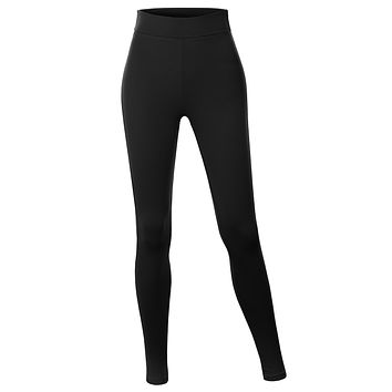 Cotton Jersey High Waist Fold Over Ankle Length Yoga Legging Pants (CLEARANCE)