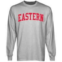Eastern Washington Eagles Basic Arch Long Sleeve T-Shirt - Ash