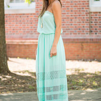 Right Through Me Maxi Dress, Mint